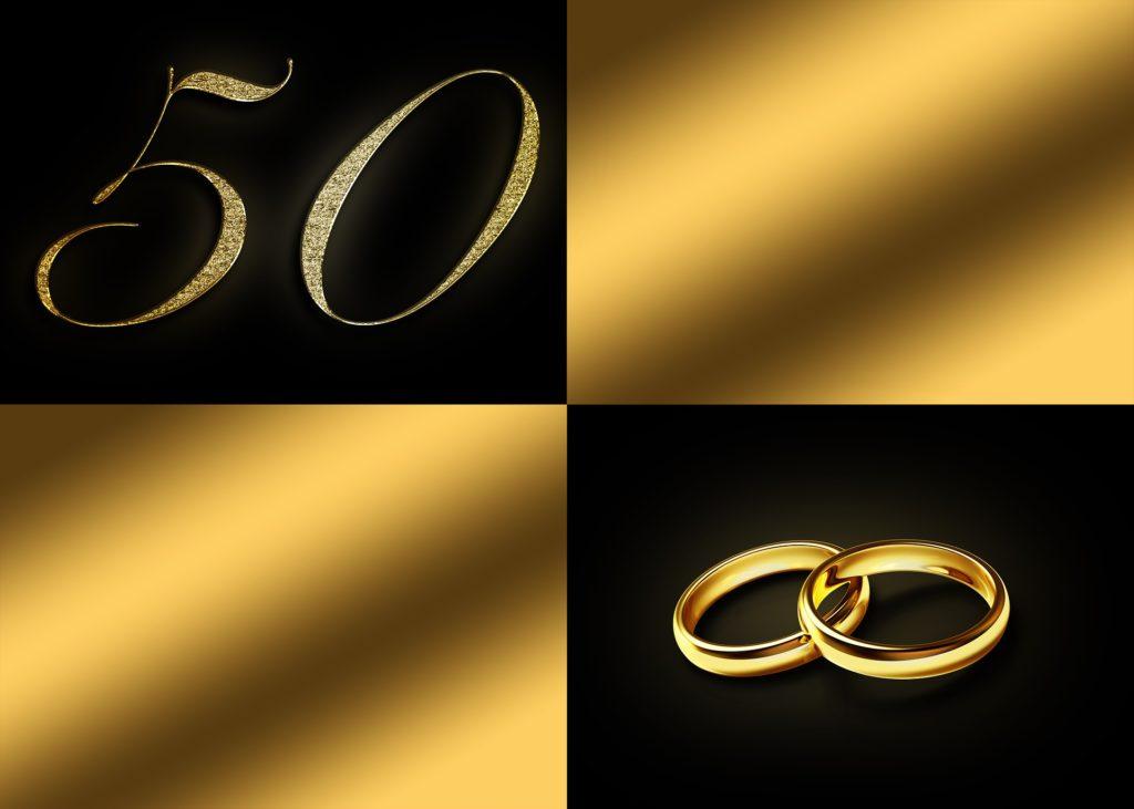 Danksagung Goldene Hochzeit / Goldhochzeit